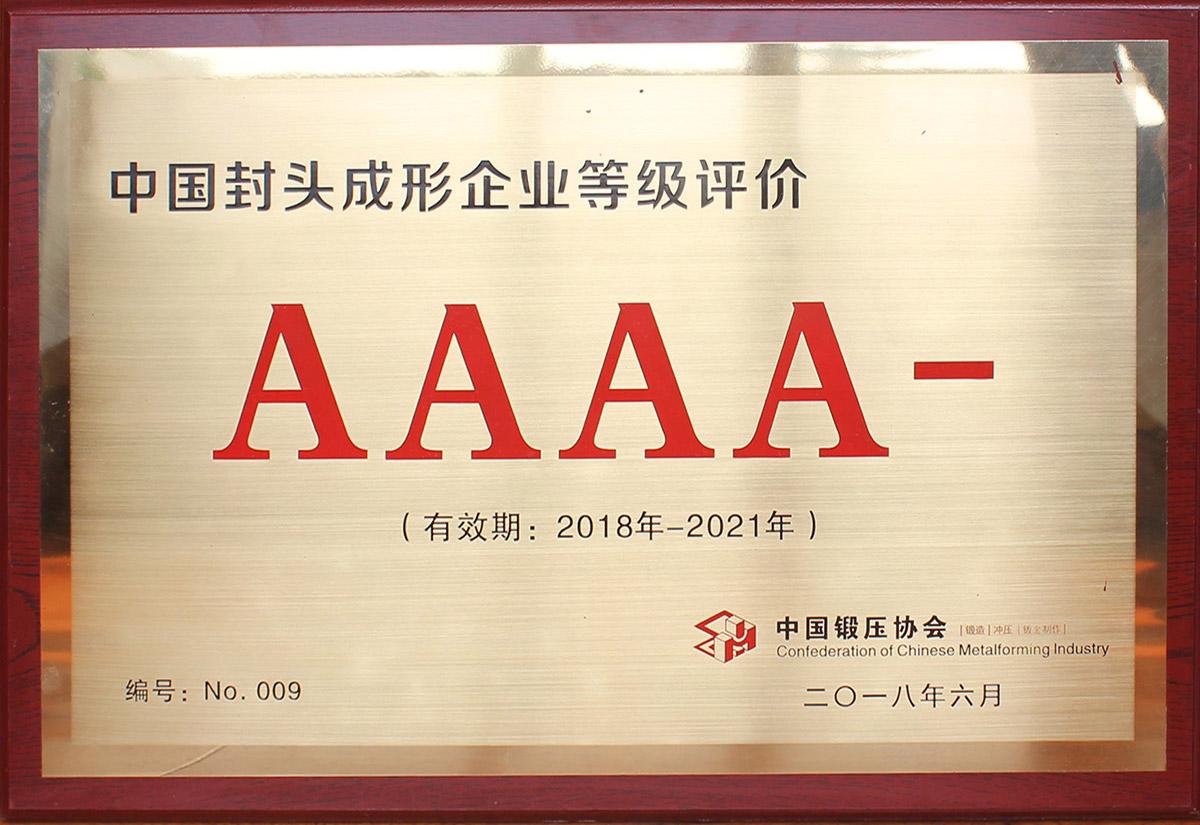 中国爱博体育app注册成形企业等级评价